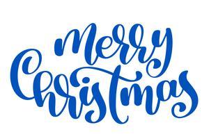 Text Frohe Weihnachten Hand geschrieben Kalligraphie Schriftzug. handgemachte vektorabbildung. Fun-Brush-Ink-Typografie für Foto-Overlays, T-Shirt-Druck, Flyer, Plakatgestaltung