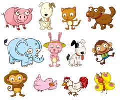 tecknade djur vektor