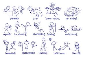 Verschiedene Sportarten vektor
