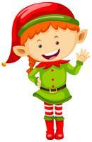 Weiblicher Elf im grünen Outfit