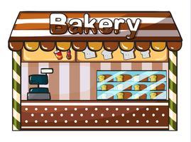 ett bageri vektor
