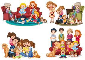 Eine Gruppe von Familienmitgliedern vektor