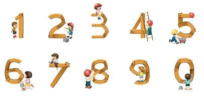 Zahlen vektor