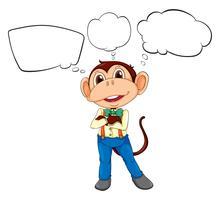 Ein männlicher Affe mit leeren Beschriftungen vektor