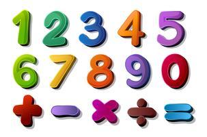 Zahlen und Mathesymbole