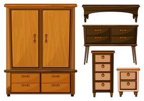 Möbler av trä vektor