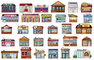 Olika byggnader vektor