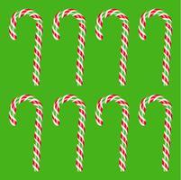 Hoch ausführliche rote und grüne Zuckerstange, Vektorillustration