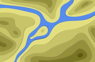 Paper cut 3D lättnad färgstark bakgrund med skuggor för reklam, vektor illustration