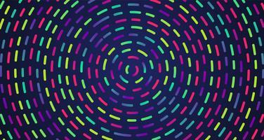 Buntes Neon gestrichelte Linien, Vektorillustration vektor