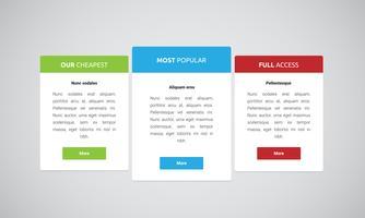 Ren och modern webbplatselement, vektor illustration