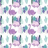 Dinosaurier-nahtloses Muster vektor