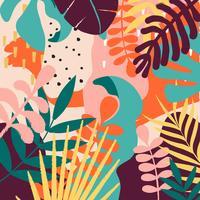 Tropischer Dschungel verlässt und blüht Hintergrund vektor