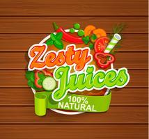 zesty juice symbol. vektor