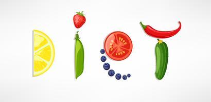 Begreppet diet. vektor