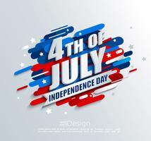 Banner för självständighetsdagen i USA. vektor