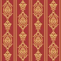 Seamless damask mönster. Guld och röd konsistens