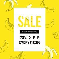 Försäljningsaffisch för shopping, rabatt, detaljhandel, produktreklam vektor illustration