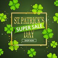 St.Patrick's Tag Super Sale Hintergrund. vektor