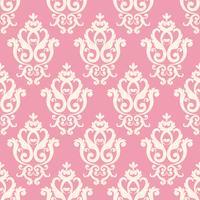 Seamless damask mönster. Rosa konsistens i vintagerik kunglig stil