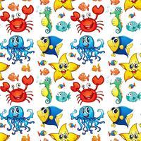 Sömlösa havsdjur vektor