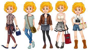 Blond tjej