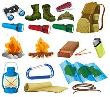 Camping-Set vektor