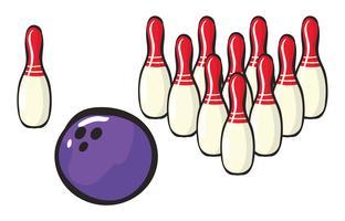 Bowling-Sportzubehör vektor