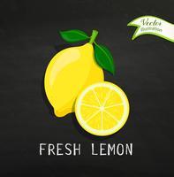 Färsk citron vektor