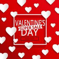 Alla hjärtans dag super försäljning. vektor