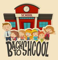 Lehrer und Kinder in der Schule