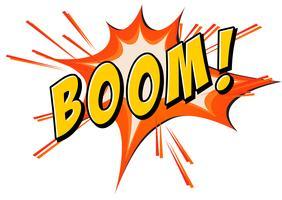 Boom Flash auf weiß vektor