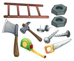 Verschiedene Arten von Bauwerkzeugen vektor