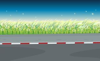 Ein Blick auf die Straße vektor