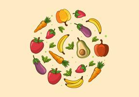 Gesundes Essen Hintergrund vektor