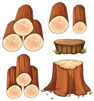 Woods och stump träd vektor