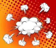 Komische Wolke vektor