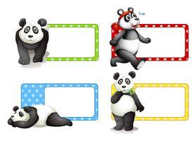 Etikettengestaltung mit Pandas vektor