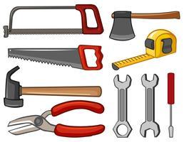 Verschiedene Arten von Handwerkzeugen vektor
