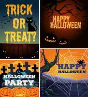 Affischdesign med halloween tema vektor