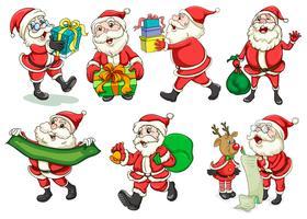 Beschäftigter Weihnachtsmann vektor