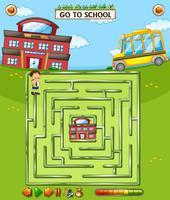 Schule Labyrinth Spielvorlage vektor