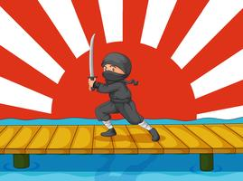 Ninja-Cartoon vektor