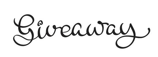 Giveaway text på vit bakgrund. Kalligrafi bokstäver Vektor illustration EPS10