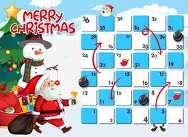 Santa på brädspelsmall