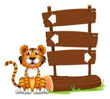 Der kleine Tiger vektor