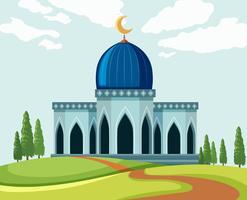 Eine wunderschöne Moscheenlandschaft