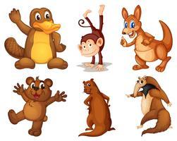 Grupp av djur vektor