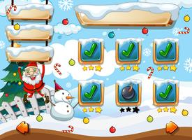 Santa Weihnachten Spielvorlage vektor