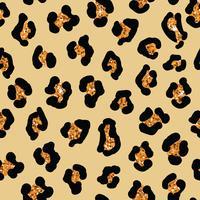 Sömlös leopard hud bakgrund. Vektor djur print med glitter